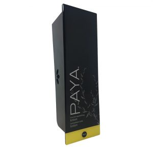 Black Paya lotion dispenser and refillable cartridge