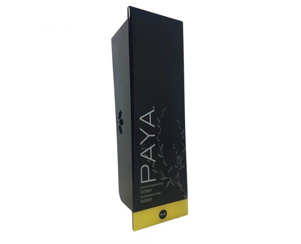 Black Paya lotion dispenser and refillable cartridge