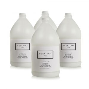Four bottles of Beekman 1802 Fresh Air Lotion.
