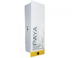 White paya shower gel dispenser with refillable cartridge