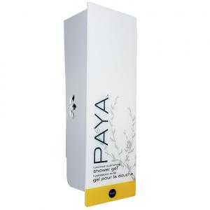 White paya shower gel dispenser with refillable cartridge