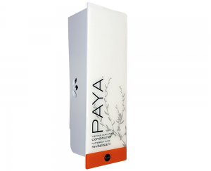 White paya dispenser with refillable cartridge