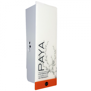 White paya dispenser with refillable cartridge