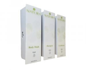 White Trio Natura Body Wash Dispenser