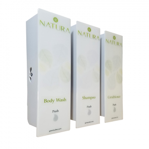 White Trio Natura Body Wash Dispenser