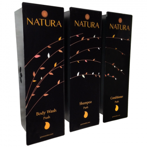 Natura Trio Black, Leaved Dispenser