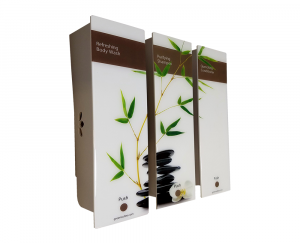 Bamboo designed triple dispenser