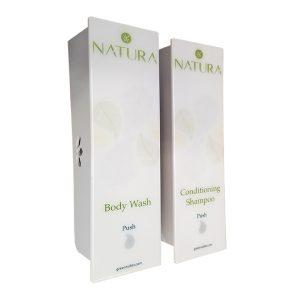 Natura White, Body Wash and Conditioner Dispenser