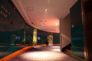 Very modern hotel interior